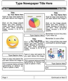 Beautiful Templates to Create Classroom Newspapers using Google Docs ...