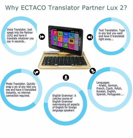 ECTACO Infographics - Translator Partner Lux 2 | Traductor electrónico ECTACO Spain | Scoop.it