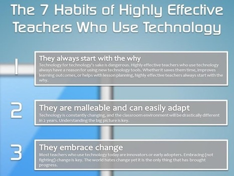 7 Habits Of Highly-Effective Teachers Who Effectively Use Technology | Information and communication technologies | Scoop.it