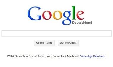 Allemagne : Google appelle les internautes à la rescousse contre la « Lex Google »   Personal branding   Scoop.it