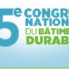 5 ème congrès national du bâtiment durable - 14, 15 & 16 septembre 2016 - Marseille