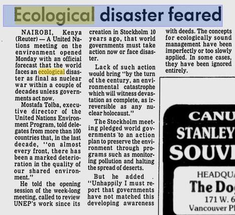 Earth 'Serially Doomed': UN Issues New 15 Year Climate Tipping Point - But UN Issued Tipping Points in 1982 & Another 10-Year Tipping Point in 1989! | Politics and Business | Scoop.it