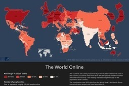 World wide web? Map resizes countries by number of internet users   Social Environments   Scoop.it