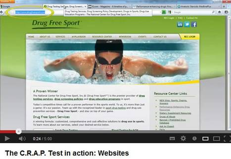 The CRAP test in action - Guide for Student Research (Portland State) | Information Literacy 101 | Scoop.it