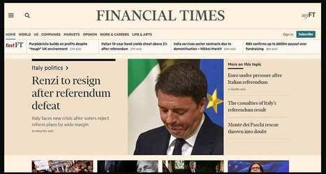 Les revenus numériques du «FT» dépassent ceux du print | New Journalism | Scoop.it