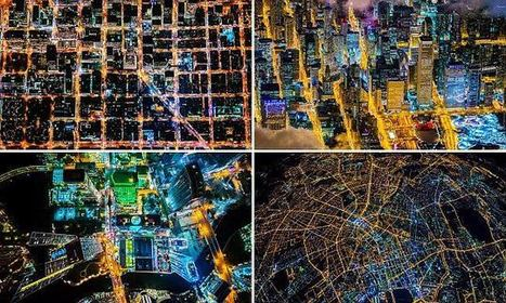 Dazzling Aerial Photos Of 10 Iconic Cities At Night | Everything from Social Media to F1 to Photography to Anything Interesting | Scoop.it