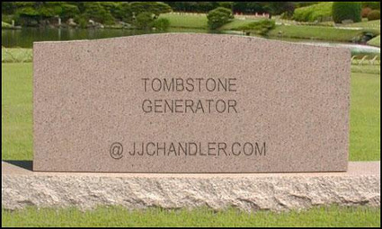 Tombstone Generator | Graphics Generation Tools - handy sites to create more compelling graphics | Scoop.it