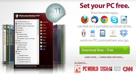 PortableApps.com - Portable software for USB, portable and cloud drives | Learning and Education 2.0 | Scoop.it