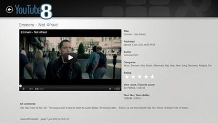 YouTube8 : client YouTube pour Windows 8 | Freewares | Scoop.it