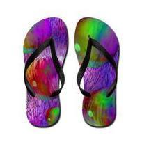 Inner Flow I Abstract Violet Flip Flops> Inner Flow I> Diane Clancy's Fine Art Shop | Fashion to Delight You for Home and to Wear | Scoop.it