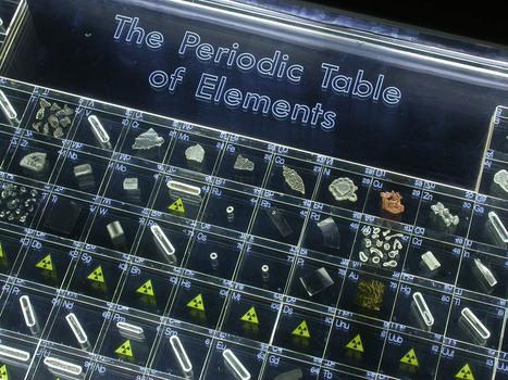 Tabla periodica in noticias de qumica scoop una tabla peridica en forma de mesa con elementos reales urtaz Image collections