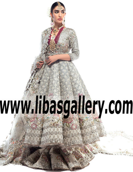 240d9eb385 Elan Bridal Wear Anarkali for Wedding or Reception Elan Designer Bridal  Wear Lehenga Paris France Wedding Lehenga for Reception