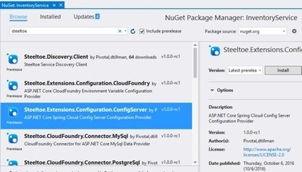 Using Steeltoe for ASP.NET 4.x apps that need a microservices-friendly config store | News de la semaine .net | Scoop.it
