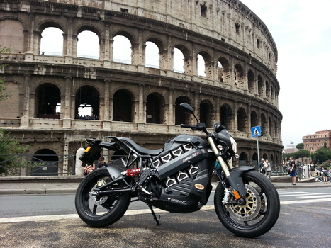 The #Brammo Empulse motorcycle is ready for its turn inside the Coliseum! — in Rome, Italy. | Brammo Electric Motorcycles | Scoop.it