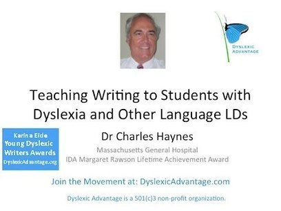 Teaching Writing to Dyslexic Students - Dr Charley Haynes - YouTube | Dyslexia DiaBlogue® | Scoop.it