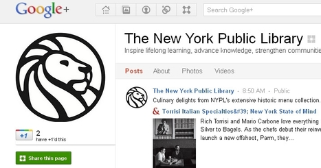 Libraries on Google+ — The Digital Shift | Internet 2013 | Scoop.it