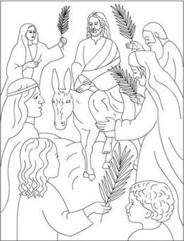 Palm Sunday Coloring Pages | Resources for Cath...