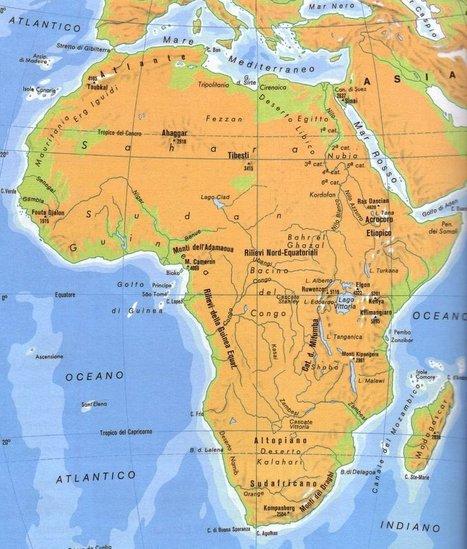 Cartina Africa Politica E Fisica.Cartina Geografica Fisica E Politica De