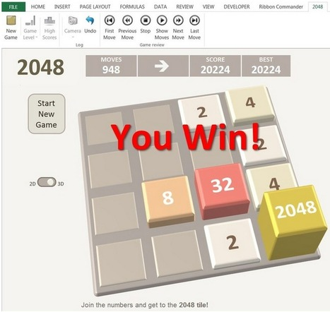 2048   Excel style! Play the addictive 2048 gam