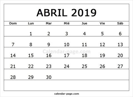 April Calendar In Calendar Page Scoop It