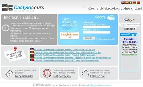 Cours de Dactylo gratuit   Time to Learn   Scoop.it
