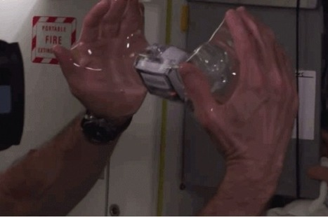 Astronauts Submerge a GoPro Inside a Floating Ball of Water On The ISS | IFLScience | marked for sharing | Scoop.it