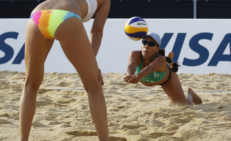 Is a beach volleyball player's bum a legitimate advertising space?   Hannah's volleyball   Scoop.it