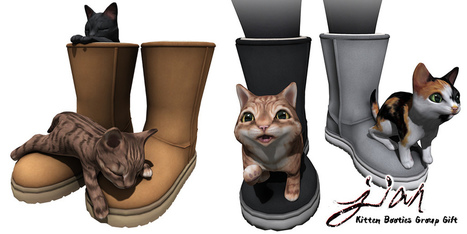 NEW JIAN Group Gift - Kitten Booties | 亗 Second Life Freebies Addiction & More 亗 | Scoop.it