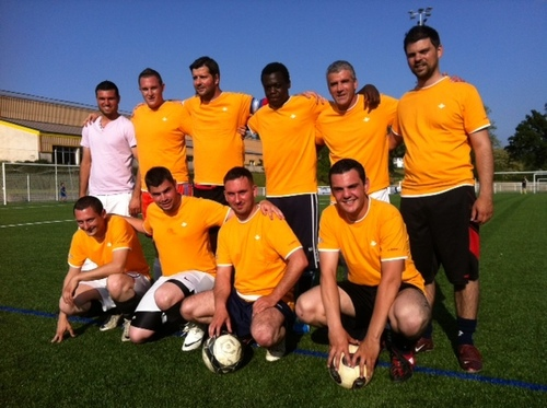 Les Techni-Men en action au tournoi de foot de St Georges de Montaigu(85)