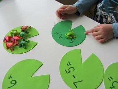 Lily Pad Math - Subtraction Activity | No Time For Flash Cards | Jardim de Infância | Scoop.it