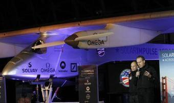 """The Oakland Press: """"Solar-powered plane to cross the U.S. in May"""" 