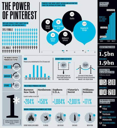 The Soaring Popularity of Pinterest [Infographic] | Sniffer | Scoop.it