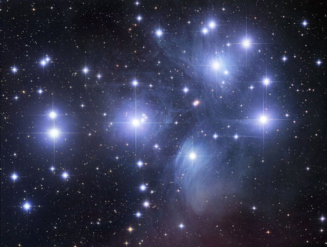 APOD: 2012 September 3 - M45: The Pleiades Star Cluster | The Matteo Rossini Post | Scoop.it