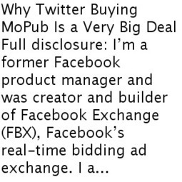 Why Twitter Buying MoPub Is a Very Big Deal — on startups — Medium | MediaBrandsTrends | Scoop.it