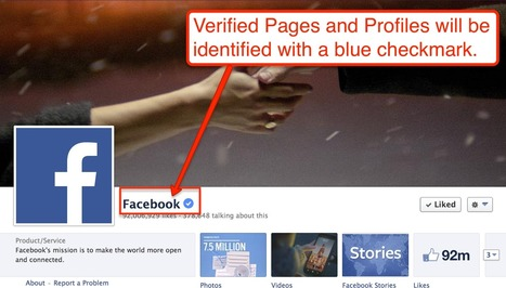 NEWS: Facebook Launching Verified Profiles and Pages | SM4NPFacebook | Scoop.it