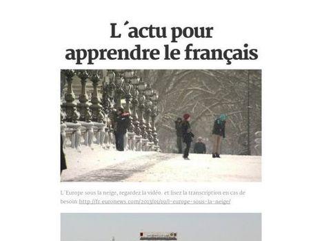 L´actu pour apprendre le français | Remue-méninges FLE | Scoop.it