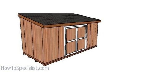 10x20 Shed Plans Diy Lean To Shed Howtospec