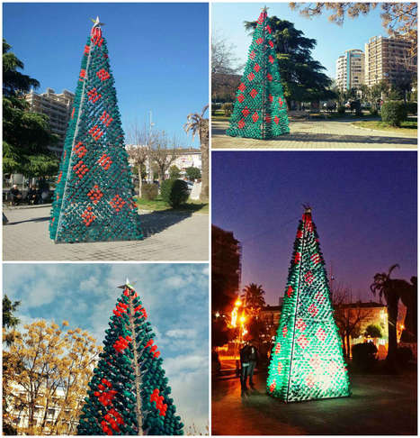 Christmas Tree Made by Citizens from 2200 Recycled Plastic Bottles in Elbasan, Albania | medical toursim | Scoop.it