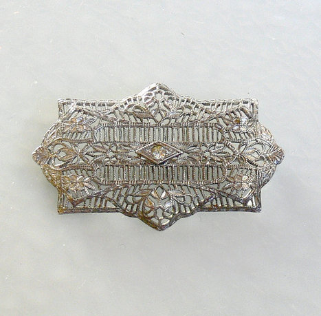 Vintage Art Deco Sterling Silver Brooch | Gorgeous Vintage I Crave! | Scoop.it