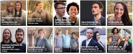​Forbes '30 Under 30' Education Leaders to Learn From in 2017 (EdSurge News) | Daring Ed Tech | Scoop.it