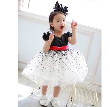 Baby Girls Kids Dresses Starry Sky Bow Princess...