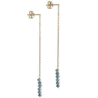 Les boucles d'oreilles Rock en Or jaune et Diamants bleus sur comptoir des filles - Comptoir des Filles | Comptoir des Filles | Scoop.it