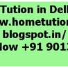 Home tutions in Delhi NCR