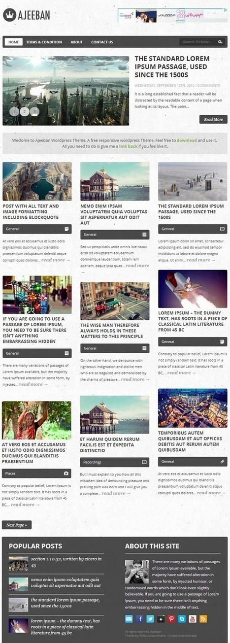 25 Free High Quality WordPress Themes   Grafix Designs   Webdesign Freebies   Scoop.it