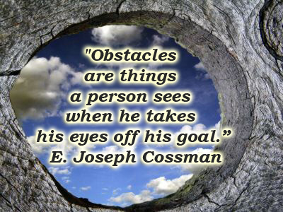 Goal & Obstacles | Quote for Thought | Scoop.it
