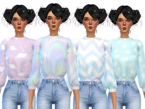 3ae38527d13 The Sims Resource  Tumblr Themed Crop Tops by Wicked Kittie
