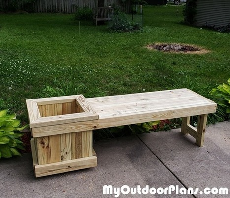Pleasant Diy 2X4 Garden Bench With Planter Myoutdoorpl Caraccident5 Cool Chair Designs And Ideas Caraccident5Info