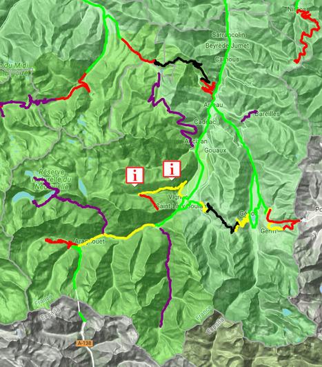 Conditions de circulation routière en Aure & Louron le 19 janvier (08:32) - InfoRoute65 | Vallée d'Aure - Pyrénées | Scoop.it