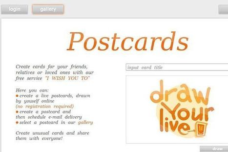 I wish you, servicio de postales virtuales en el que podemos crear animaciones a mano alzada   Gelarako erremintak 2.0   Scoop.it