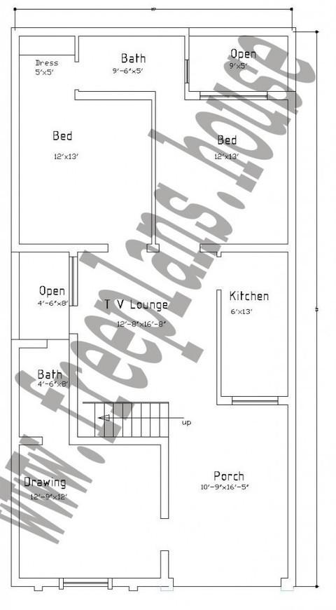 25 50 Feet 116 Square Meters House Plan